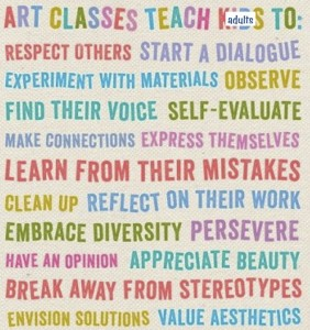 art classes teach adults to...
