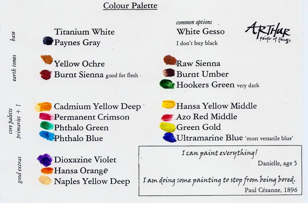 colour palette for Reckless Painting